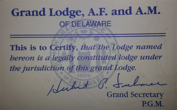St  John's Lodge No2, Ancient Free and Accepted Masons of Delaware